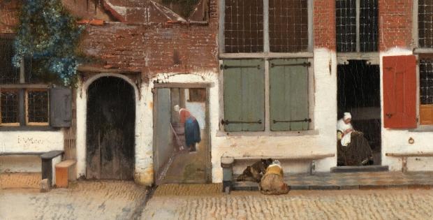 Johannes Vermeer Het Straatje pens