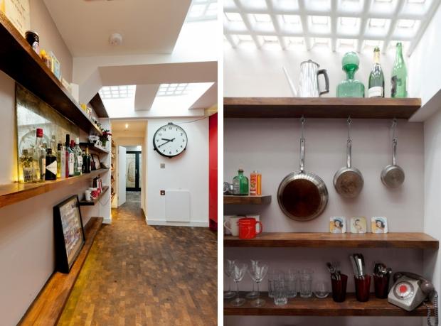 Londen ondergronds huis keuken