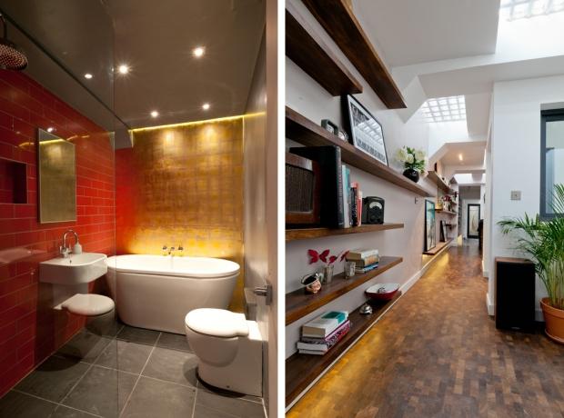 Londen ondergronds toilet badkamer gang