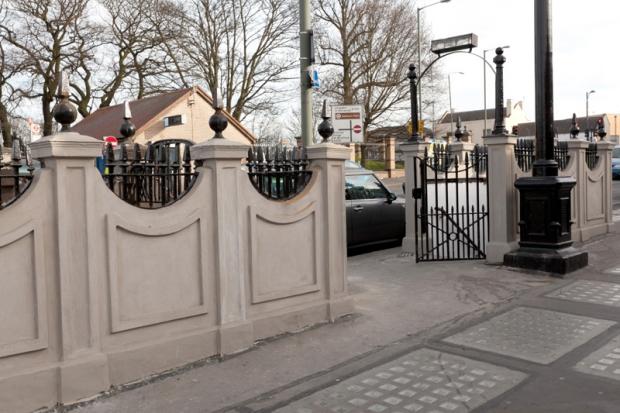 Londen openbare toiletten huis entree
