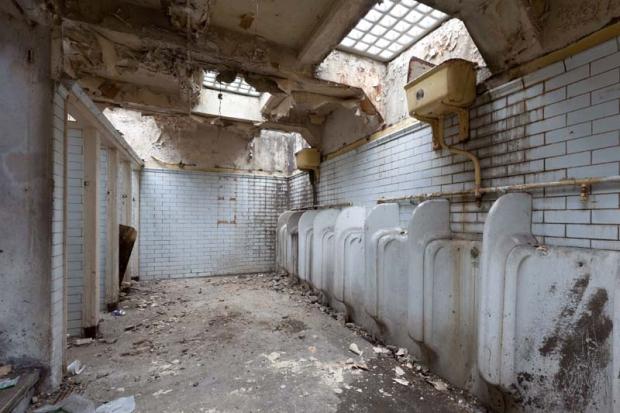 Londen woning openbare toiletten pisbakken
