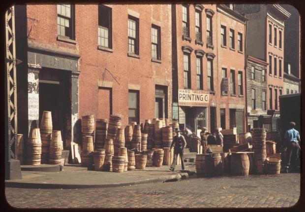 New York jaren veertig Pearl Street