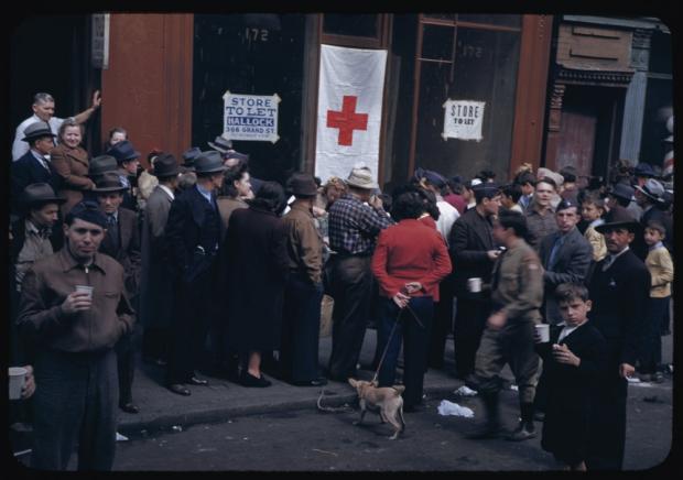 New York jaren veertig menigte