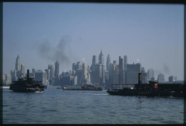 New York jaren veertig skyline
