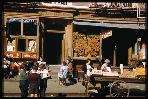 New York straatbeeld jaren veertig