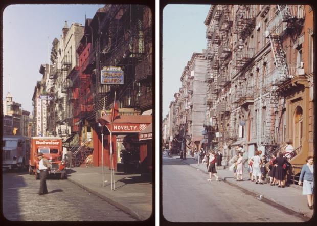 New York straten jaren veertig rood
