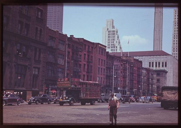 New York verkeer jaren veertig