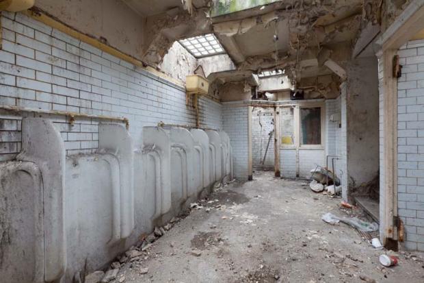 Openbaar toilet plee go with the vlo Londen binnenkijker