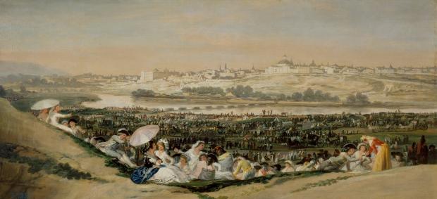 Pradera de San Isidro Goya schilderij