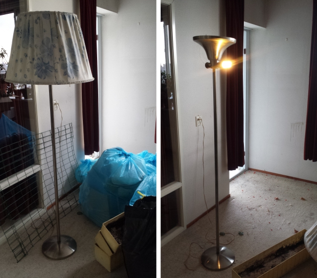 Rotterdam ontruiming lamp art deco sneluwwoningontruimen.nl go with the vlo