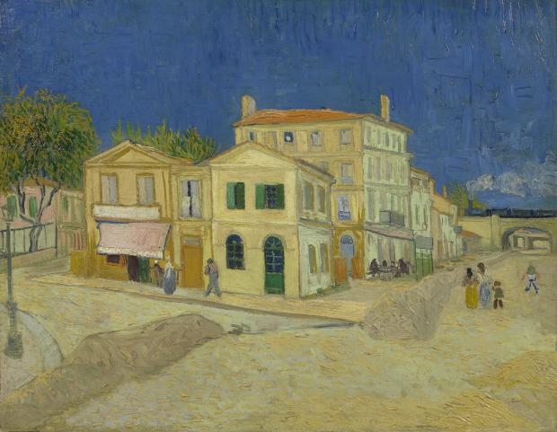 Vincent van Gogh Het gele huis schilderij go with the vlo