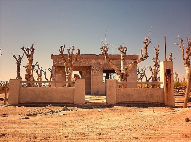 VillaEpecuen huis dode bomen