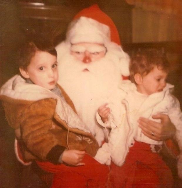 Enge kerstmannen boos horror griezelen