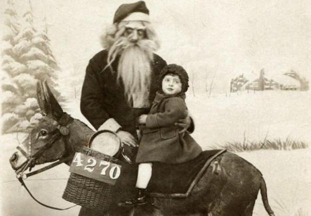Enge kerstmannen oldskool horror griezelen