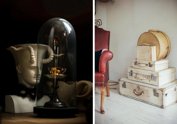 Hotel 40 Winks Londen contrasten vintage kunst