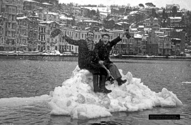 Istanbul Winter Diary expositie sneeuw Bosporus