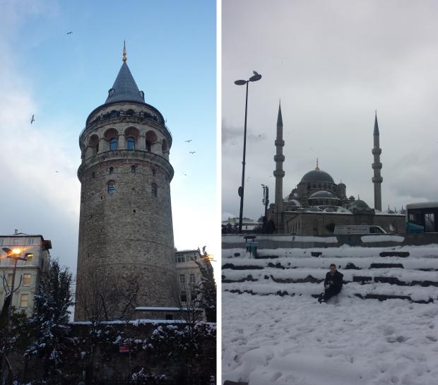 Istanbul sneeuw Galatatoren trappen schoon copyright Danny Post GWTV