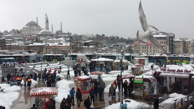 Istanbul sneeuw copyright Danny Post Sultanahmet