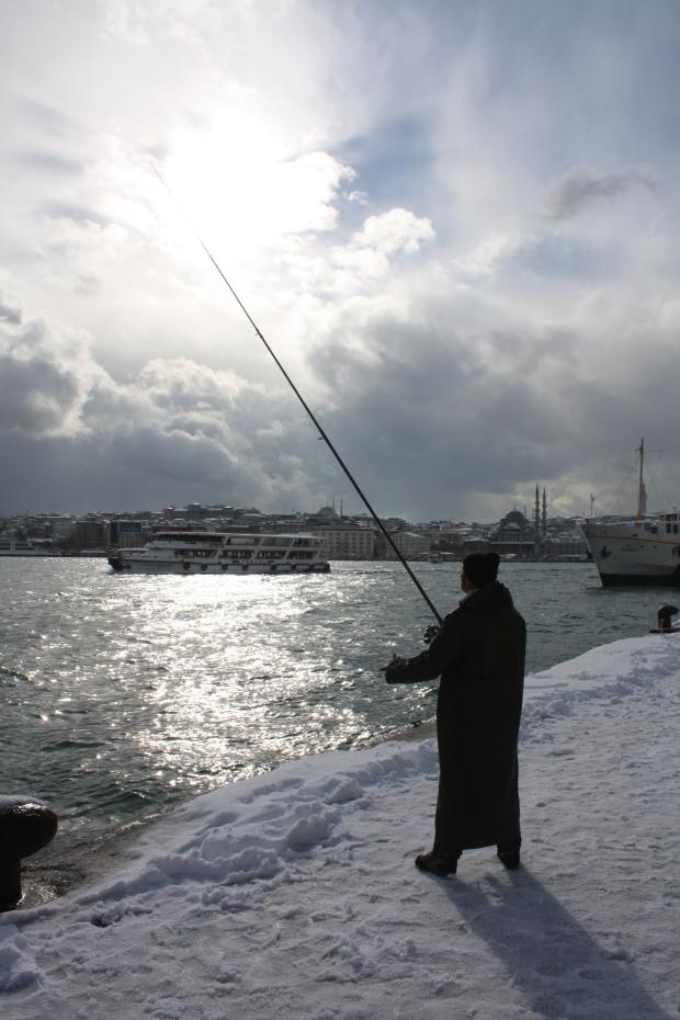 Istanbul sneeuw visser copyright Danny Post