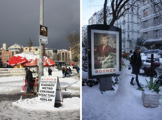 Istanbul sneeuwpop Cihangir Galatatoren copyright Danny Post