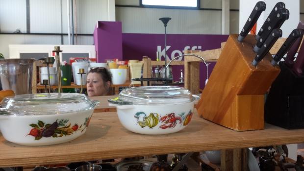 Kringloop Restore schalen vintage messen