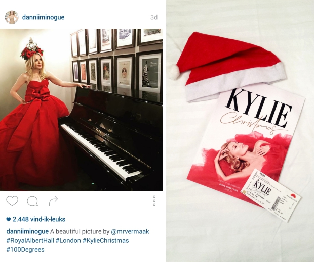 Kylie Christmas Royal Albert Hall kerst concert go with the vlo