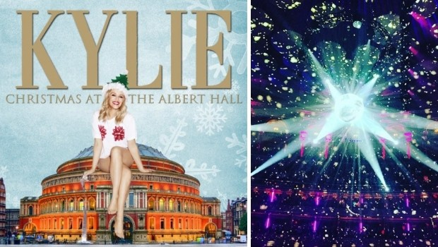 Kylie Christmas concert disco go with the vlo Royal Albert Hall