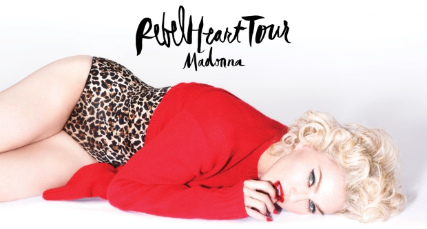 Madonna Rebel Heart tour Amsterdam poster go with the vlo
