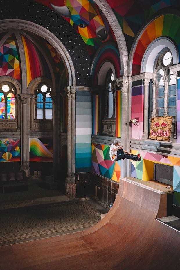 Okuda San Miguel Spanje kerk skaten
