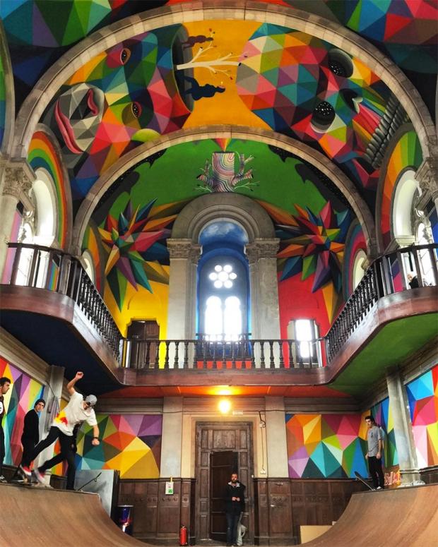 Okuda San Miguel kerk skaten Spanje