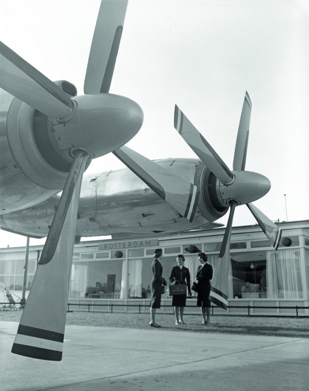 Rotterdam luchthaven vliegtuig wederopbouw WBOOKS go with the vlo