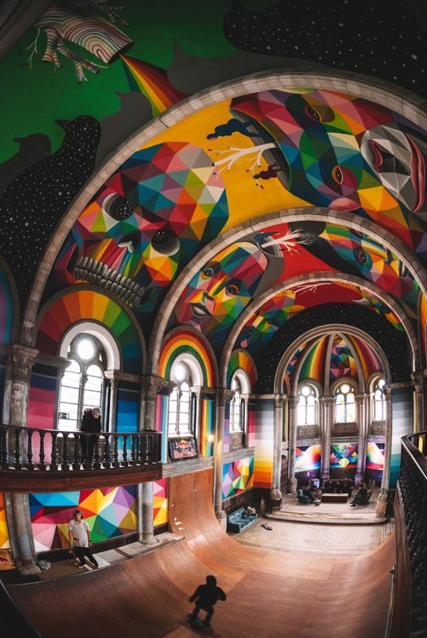 Spanje kerk skaten Kaos Temple