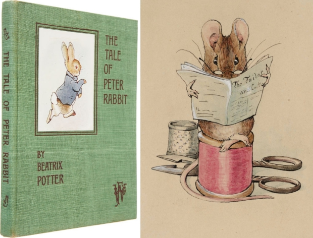 Beatrix Potter boeken go with the vlo