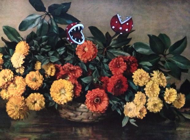 Go-with-the-Vlo-Dave-Pollot-Mario-Bros-painting-schilderij-kringloopkunst