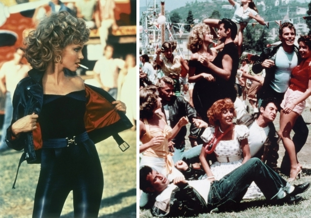 Grease Californië Olivia Newton-John set film go with the vlo