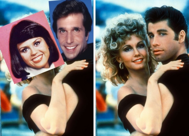 Grease Henry Winkler Marie Osmond film Olivia en John go with the vlo-side