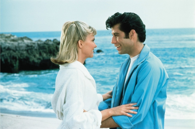 Grease Olivia Newton John John Travolta Summer Nights go with the vlo