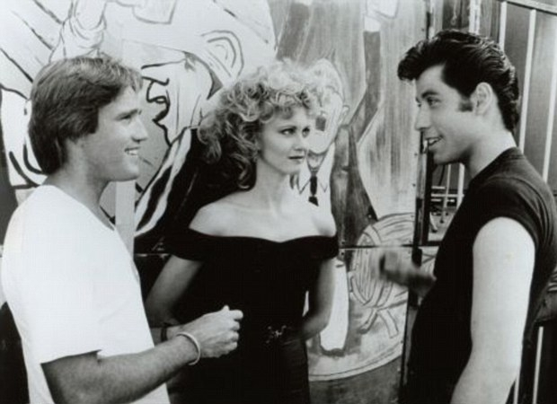Grease Olivia en John en Randal filmset go with the vlo