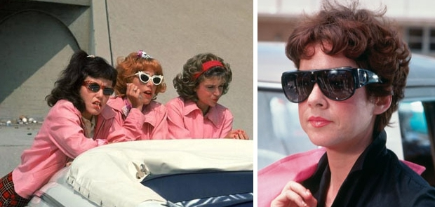 Grease Pink Ladies zonnebrillen go with the vlo