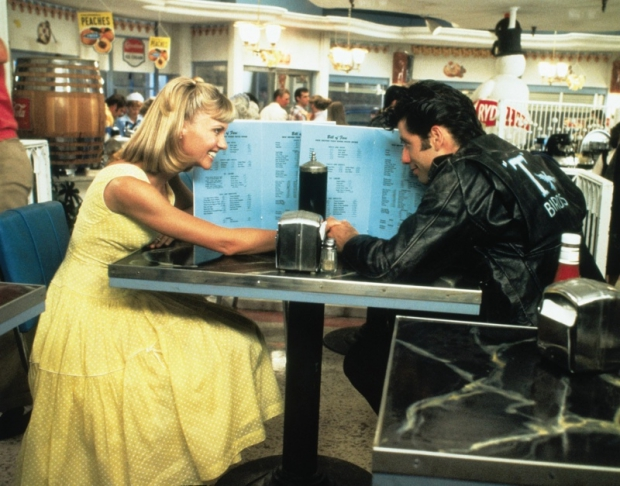 Grease diner tafel film go with the vlo