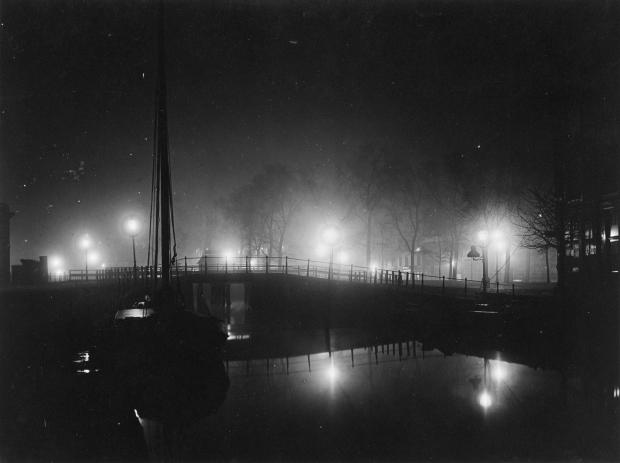 Henri Berssenbrugge Delftsevaart galerijbrug 1912 avond go with the vlo