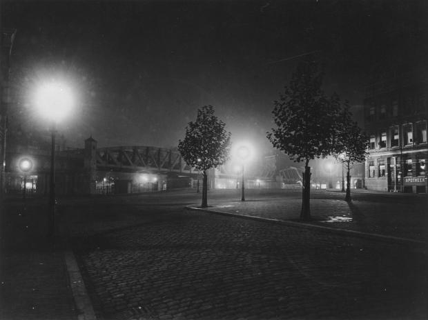 Henri Berssenbrugge Pompenburgsingel Rotterdam 1913 avond go with the vlo