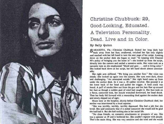 Christine Chubbuck zelfmoord op tv go with the vlo