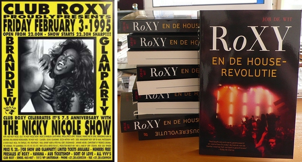 Club RoXY Amsterdam flyer boeken go with the vlo