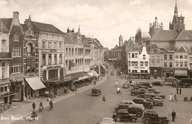 De Drye Vijzels Den Bosch Markt oude afbeelding go with the vlo