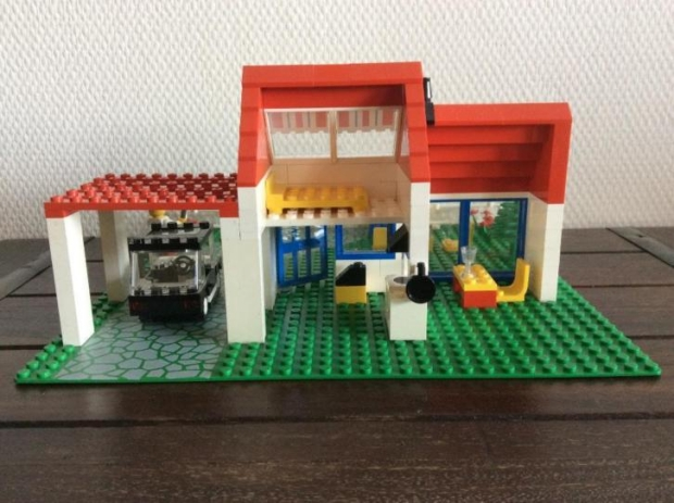 LEGO 6349 villa achterkant 1988 bouwset go with the vlo