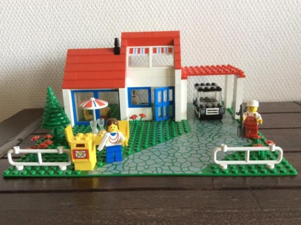 LEGO 6349 villa bouwset vintage 1988 go with the vlo