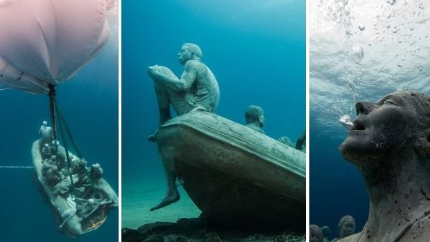 Onderwaterbeelden Lanzarote museum go with the vlo