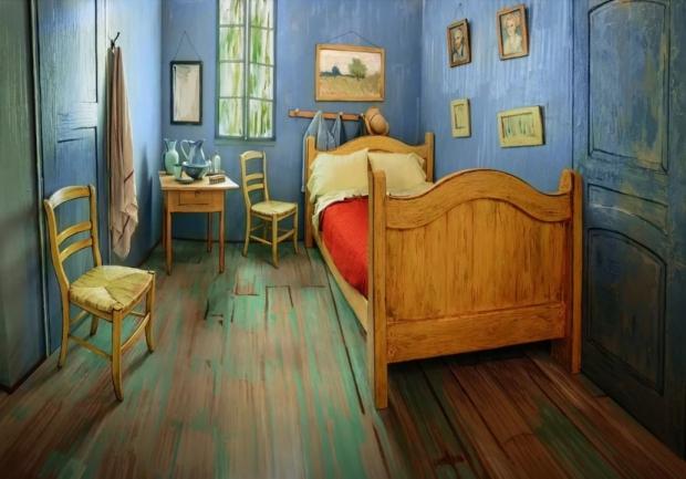Overnachten in een schilderij Vincent van Gogh bed go with the vlo