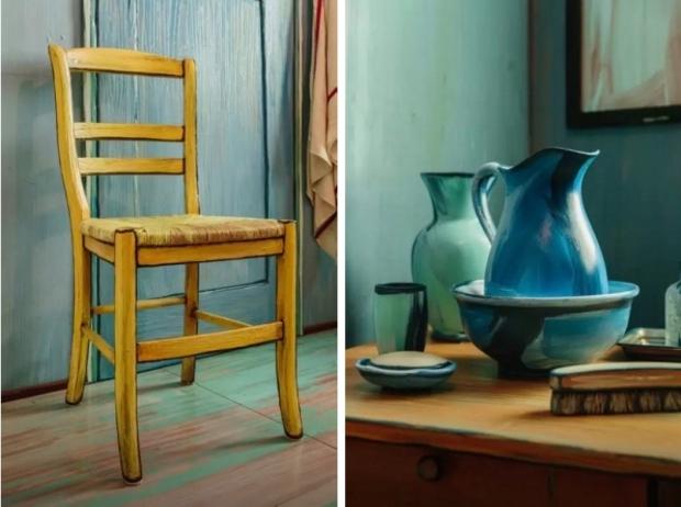 Overnachten in een schilderij van Van Gogh stoel go with the vlo